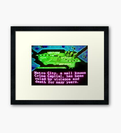 A Well Known Crime Capital Framed Print