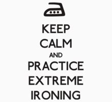Keep Calm and Practice Extreme Ironing by OhMyDog