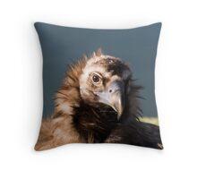 Black Headed Vulture Throw Pillow