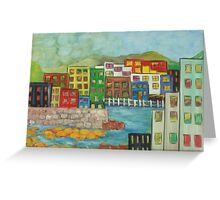 City on the canal Greeting Card