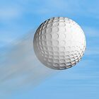 Golf ball by Norma Cornes