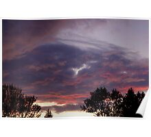 Turbulent Purple Sunset Poster