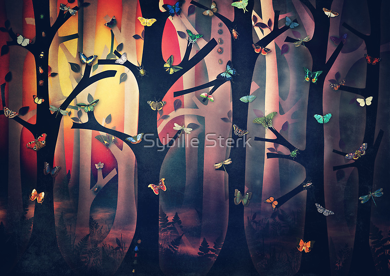 The Woods at Sunset by Sybille Sterk