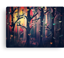 The Woods at Sunset Canvas Print