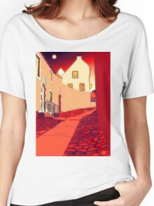 Dysart: Scottish Town digital drawing Women's Relaxed Fit T-Shirt