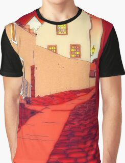 Dysart: Scottish Town digital drawing Graphic T-Shirt