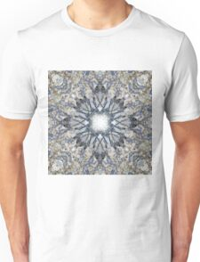 Abstract kaleidoscope shape marble texture design Unisex T-Shirt