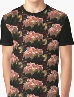 Sunny Pink Poinsettias Graphic T-Shirt