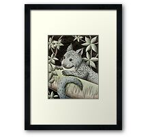 Blue Jungle Cat Of The Night Framed Print