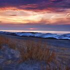 Ice Dunes At Sunset by Kathy Weaver