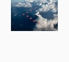 Red Arrows and Avro Vulcan above clouds T-Shirt