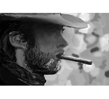 Clint Eastwood - Digital Painting  Photographic Print