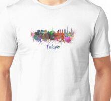 Tokyo skyline in watercolor Unisex T-Shirt