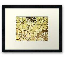 Clockwork steampunk Framed Print