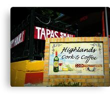 Highlands Cork and Coffee Canvas Print