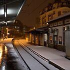 Bécon-Les-Bruyères station in the snow by Cédric Charbonnel