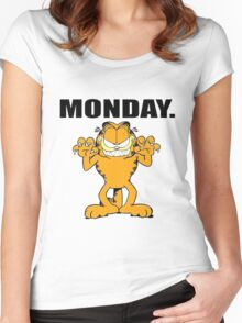 Garfield Hate Monday Women's Fitted Scoop T-Shirt