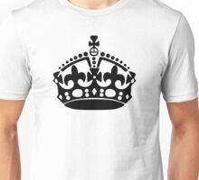 Keep Calm and Carry On Crown Unisex T-Shirt