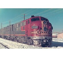 Santa Fe F7 A and B Units Photographic Print