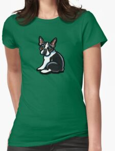 Cute Boston Terrier Womens Fitted T-Shirt