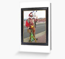 Jester & Unicycle  Greeting Card