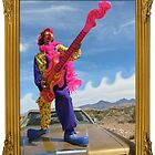 Wacky Clown Guitarist by jollykangaroo
