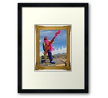 Wacky Clown Guitarist Framed Print