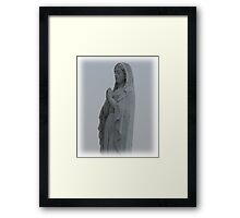 Stutue of the virgin Mary Framed Print