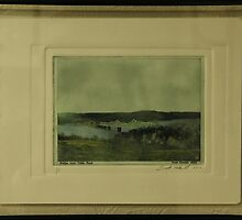 Bridge Over Old White River  Solarplate Etching  by FrankSchmidt