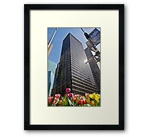 Tulips in New York Framed Print