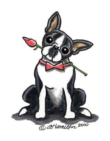 Boston Terrier Sweetheart by offleashart