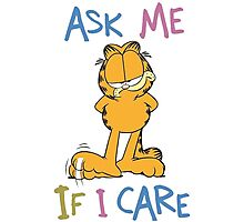 Garfield - Ask Me If I Care Photographic Print