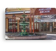 Rundle Mall - Fountain and Historic Arcade Metal Print