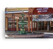 Rundle Mall - Fountain and Historic Arcade Canvas Print