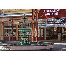 Rundle Mall - Fountain and Historic Arcade Photographic Print