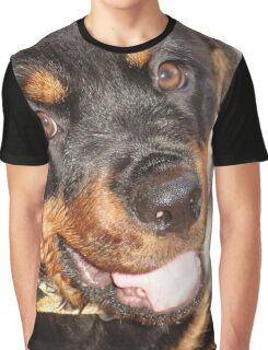 Portrait Of A Gentle Faced Female Rottweiler  Graphic T-Shirt