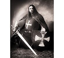 Knight of the Blue Company Photographic Print