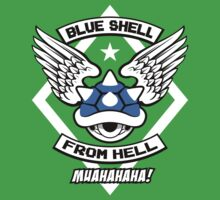 Blue Shell From Hell One Piece - Short Sleeve