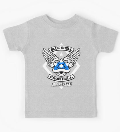 Blue Shell From Hell Kids Tee