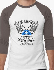 Blue Shell From Hell Men's Baseball ¾ T-Shirt