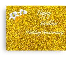 Happy Golden Wedding Anniversary Canvas Print