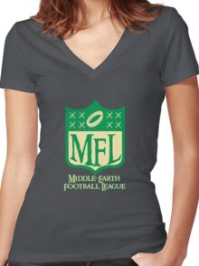THE GREATEST GAME IN MIDDLE EARTH Women's Fitted V-Neck T-Shirt
