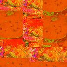 Orange Abstract by Richard  Tuvey
