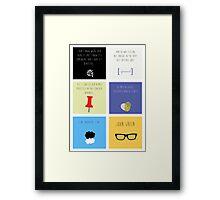Last Words - John Green edition Framed Print