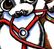 Boston Terrier Walking Buddies Sticker