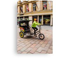 Glasgow rickshaw Canvas Print