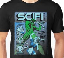 Cthulhu on the cover of SCIFI Unisex T-Shirt