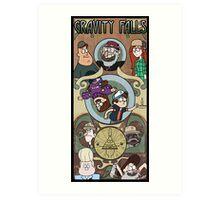 Gravity Falls Art Nouveau Art Print