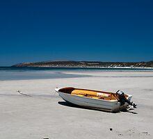 Dinghy on the beach (Emu Bay)  by Tom Slowinski