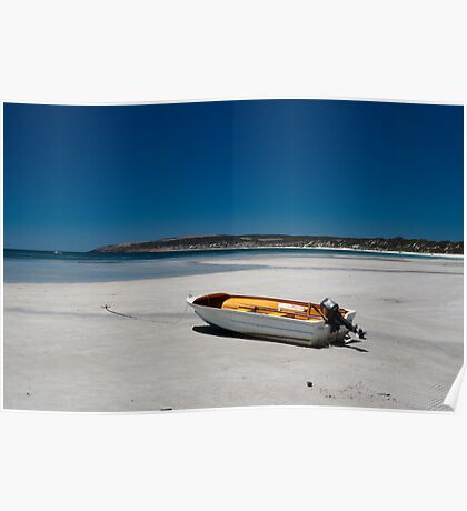 Dinghy on the beach (Emu Bay)  Poster